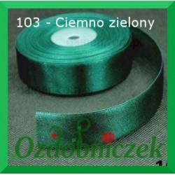 Tasiemka satynowa SZTYWNA 38mm/2mb kolor ciemny zielony 103