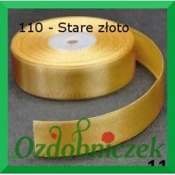Wstążka tasiemka satynowa SZTYWNA 38mm/2mb kolor stare złoto 110