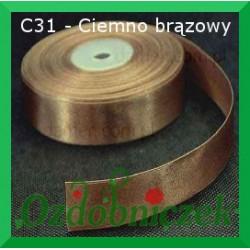 Tasiemka satynowa SZTYWNA 38mm/2mb kolor ciemny brązowy C31