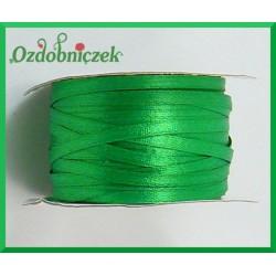 Wstążka tasiemka atłasowa 3mm 5m zielona