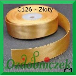 Tasiemka satynowa SZTYWNA 38mm/2mb kolor złoty C125