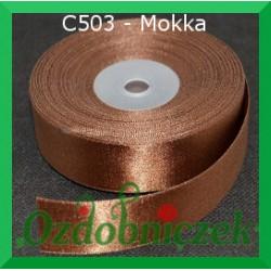 Tasiemka satynowa SZTYWNA 38mm/2mb kolor mokka C503