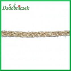 Taśma sznurek jutowy naturalny 3mb MOTEK