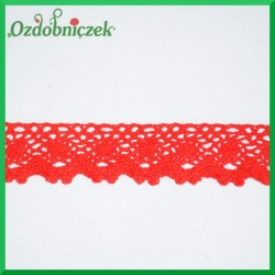 Koronka ozdobna czerwona K006 3cm/5,5mb