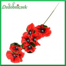 Maki 7 kwiatów gałązka 57cm