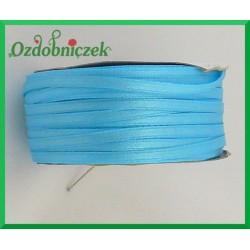 Wstążka tasiemka atłasowa 5m błękit maryjny