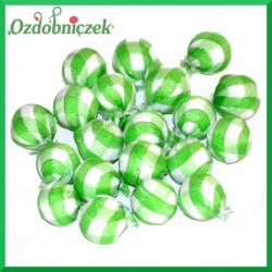 Kuleczki styropianowe w materiałowej osłonce zielone w białą kratkę 20szt.