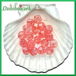 Koraliki kryształki różowe 14mm/50g