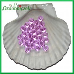 Perełki 10mm/50g fioletowe przeźroczyste