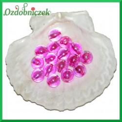 Perełki koraliki 14mm/50g różowe opalizujące
