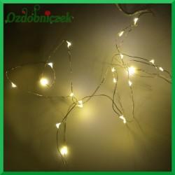 Lampki LED ciepły biały 20szt.