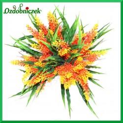Gałązka dekoracyjna - trawa ozdobna pomarańczowa 36cm  (A499)