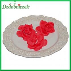 RÓŻA MINI - kwiatuszki ozdobne CZERWONE 8szt.