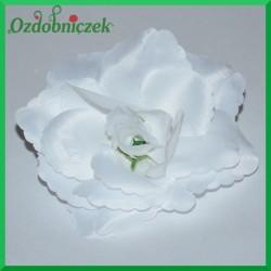 RÓŻA głowka kwiatowa 12cm BIAŁA