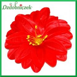 DALIA głowka kwiatowa 12CM CZERWONA