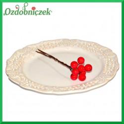 Jagódki czerwone na druciku 1szt./10cm (8 owoców na gałązce)