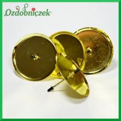 Złote podstawki pod świece walcowe 4szt/70mm
