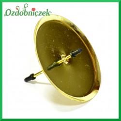 Złote podstawki pod świece walcowe 1szt/70mm