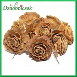 Cedrowa róża na piku HURT 10cm/70szt.