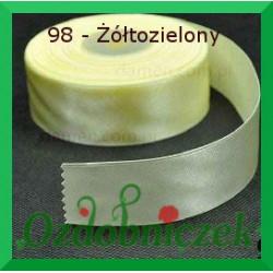 Wstążka tasiemka satynowa 25mm żółto zielona 98 SZTYWNA