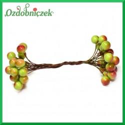 Jagódki dwukolorowe podwójna gałązka 20 owoców