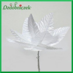 Satynowe liście na druciku 6cm/10szt.