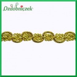 Taśma dekoracyjna złota wężyk i fala 1,2cm/8,5mb