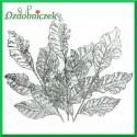 Liść ażurowy mały srebrny 33cm