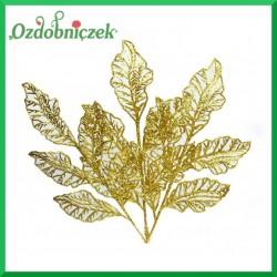 Liść ażurowy mały złoty 33cm