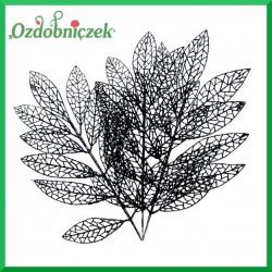 Liść brokatowy ażurowy 1 szt. czarny