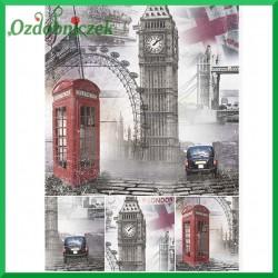 Papier ryżowy A4 R0841 - Londyn budka telefoniczna BIG BEN