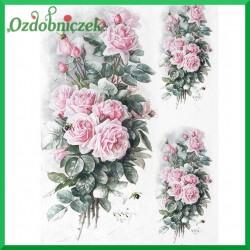 Papier ryżowy A4 R1209 - bukiet róż