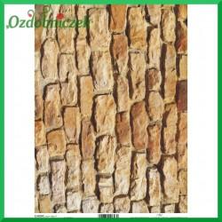 Papier do decoupage KLASYCZNY A4 D0490M - mur z cegieł