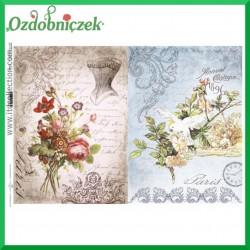 Papier do decoupage KLASYCZNY A4 D0477M - paryskie motywy i kwiaty