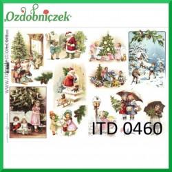 Papier do decoupage KLASYCZNY A4 D0460M - obrazki bożonarodzeniowe