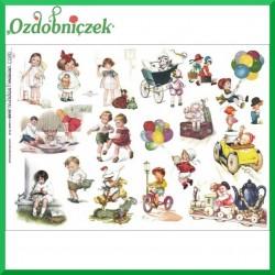 Papier do decoupage KLASYCZNY A4 D0401M - rysunkowe dzieci