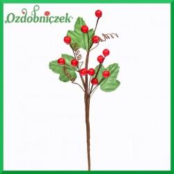 Mini jagódki na gałązce (owoce, sprężynki, listki) 18cm