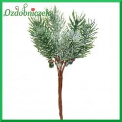 Gałązka igliwia zielona na druciku (5 drucików)