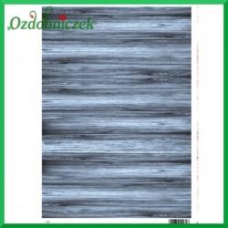 Papier do decoupage SOFT A4 -NIEBIESKIE  DESKI S34