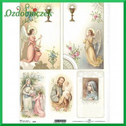 Papier do decoupage SOFT A4 -SWIĘCI SO236