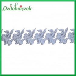 Aplikacje króliczki z jajeczkiem grafitowe