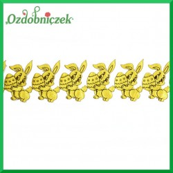 Aplikacje króliczki z jajeczkiem złoty z czarnym