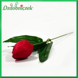Kwiat TULIPANA idealna czerwień 24cm/1szt.