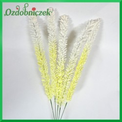 Biało żółta gałązka ozdobna 50cm/5szt