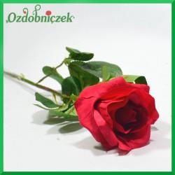 RÓŻA na długiej łodydze - czerwona