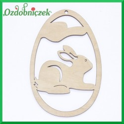 Jajko zawieszka królik nr 23