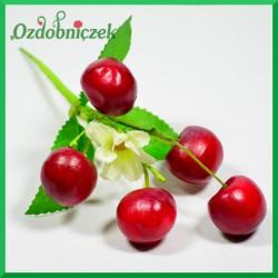 WIŚNIE na druciku 5 owoców