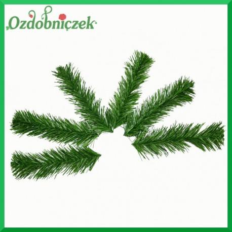 Gałązka SOSNY zielona pojedyncza 19cm/zestaw 6szt