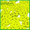UŚMIECHNIĘTE BUŹKI - kwiatki z drewna żółte 48szt