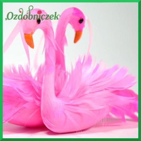 Różowe flamingi - zestaw zawieszek ozdobnych 8cm/2szt.